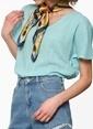 Fashion Friends Kısa Kollu Bluz Mavi